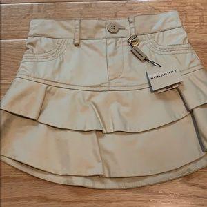 Burberry cream ruffle mini skirt